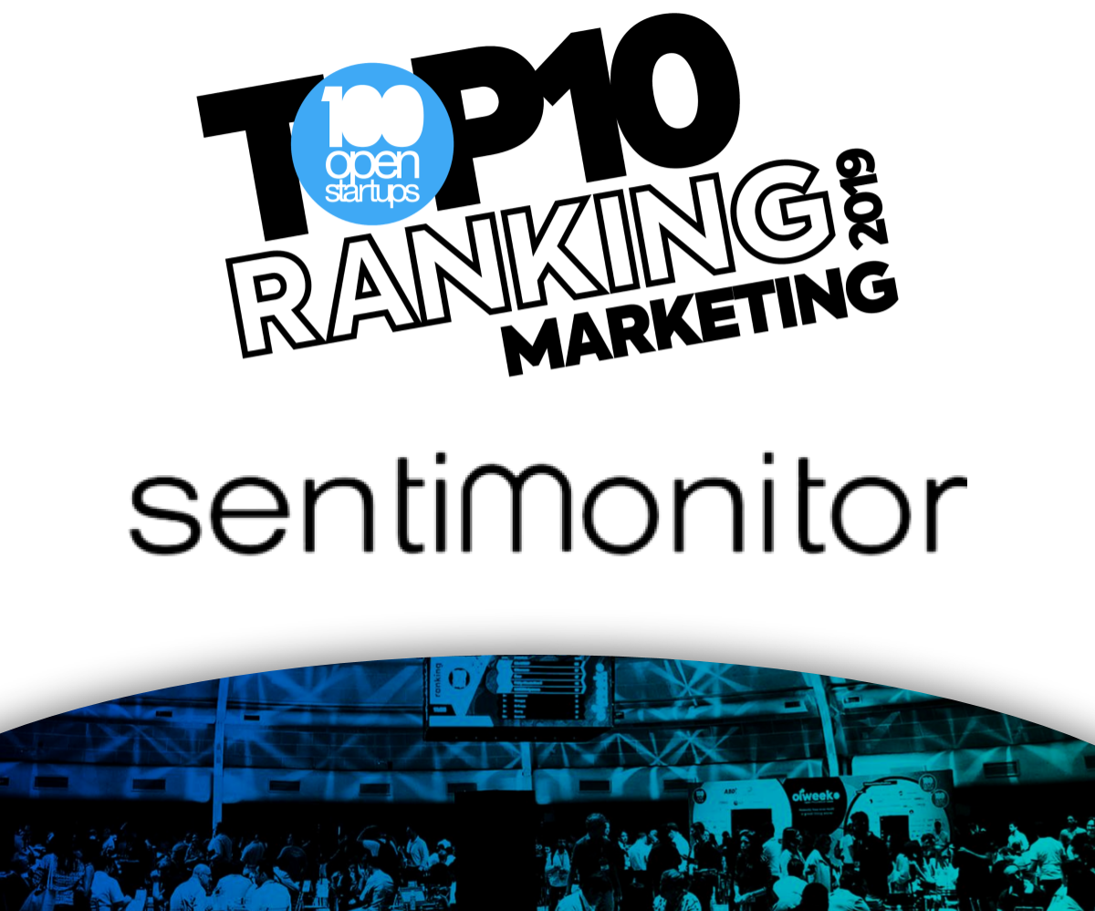 100 Open Startups: Sentimonitor no Top 10 Marketing Startups